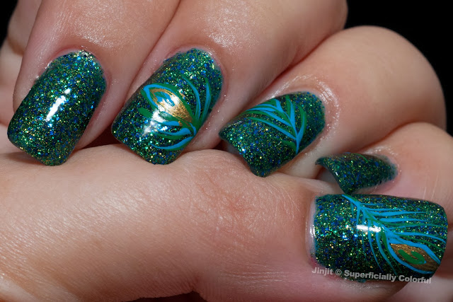 The Nail Junkie Animal Collection Peacock