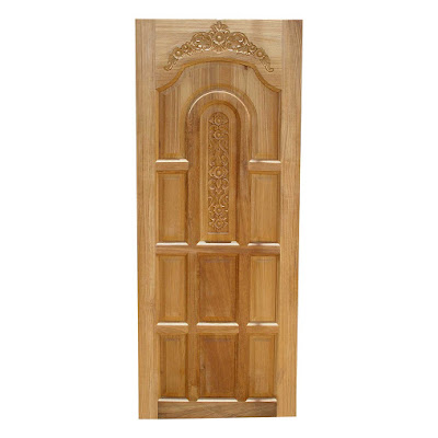Single wooden kerala model main door single door wood for Main door model