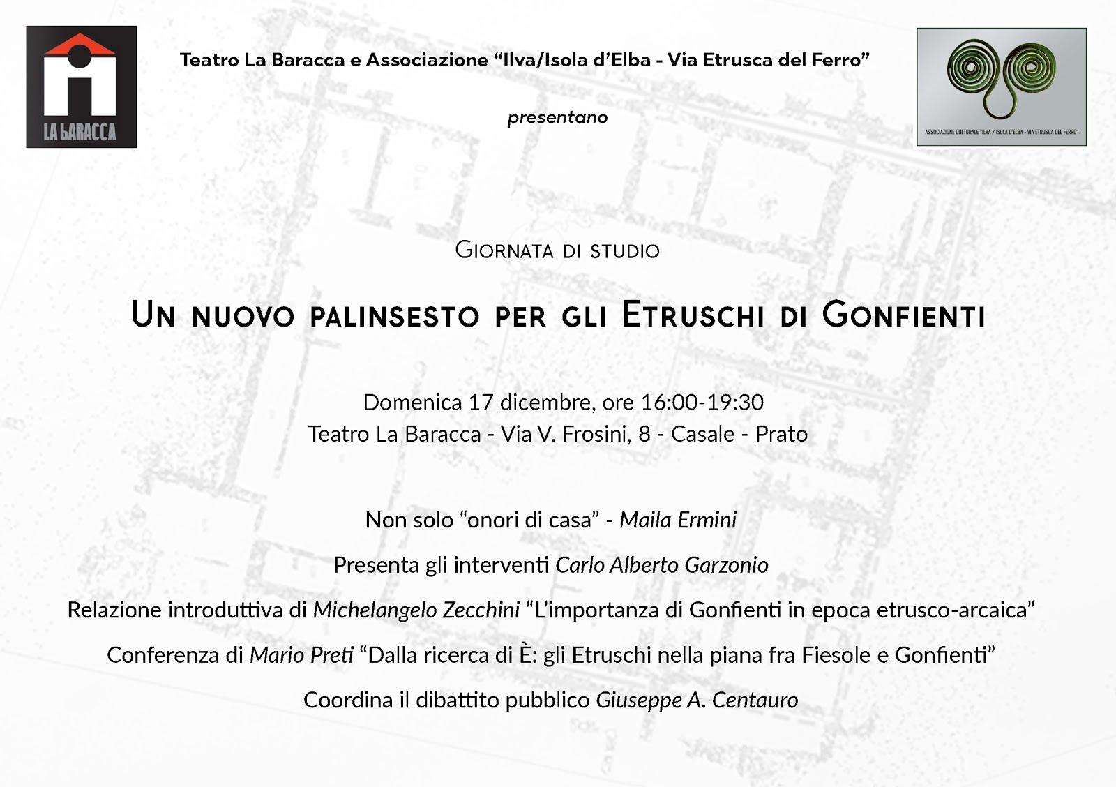 Domenica 17 dicembre ore 16 - Un nuovo palinsensto per gli Etruschi di Gonfienti