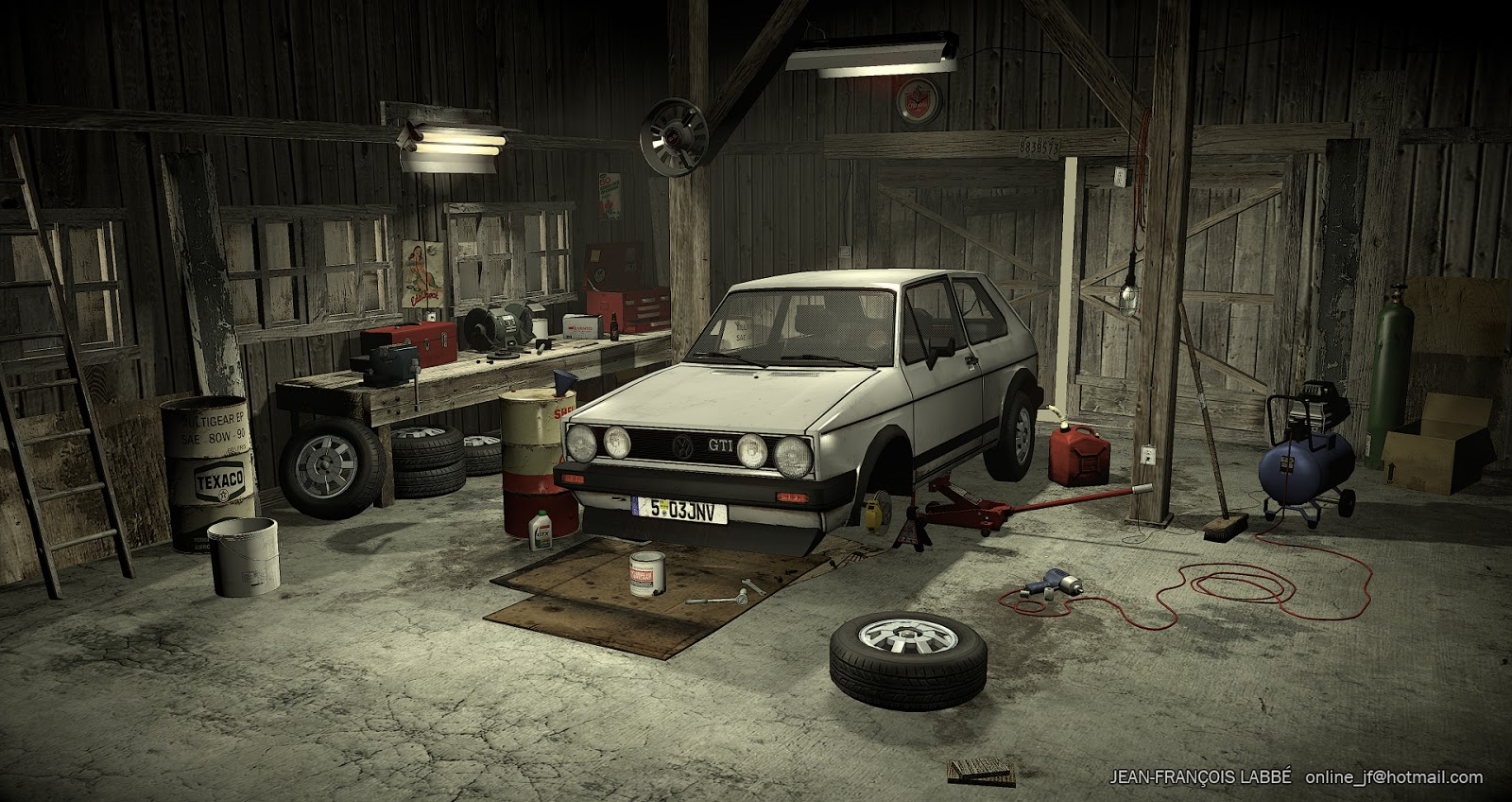 Jean fran ois labb 3d artist garage in the old barn for Garage new s villejuif