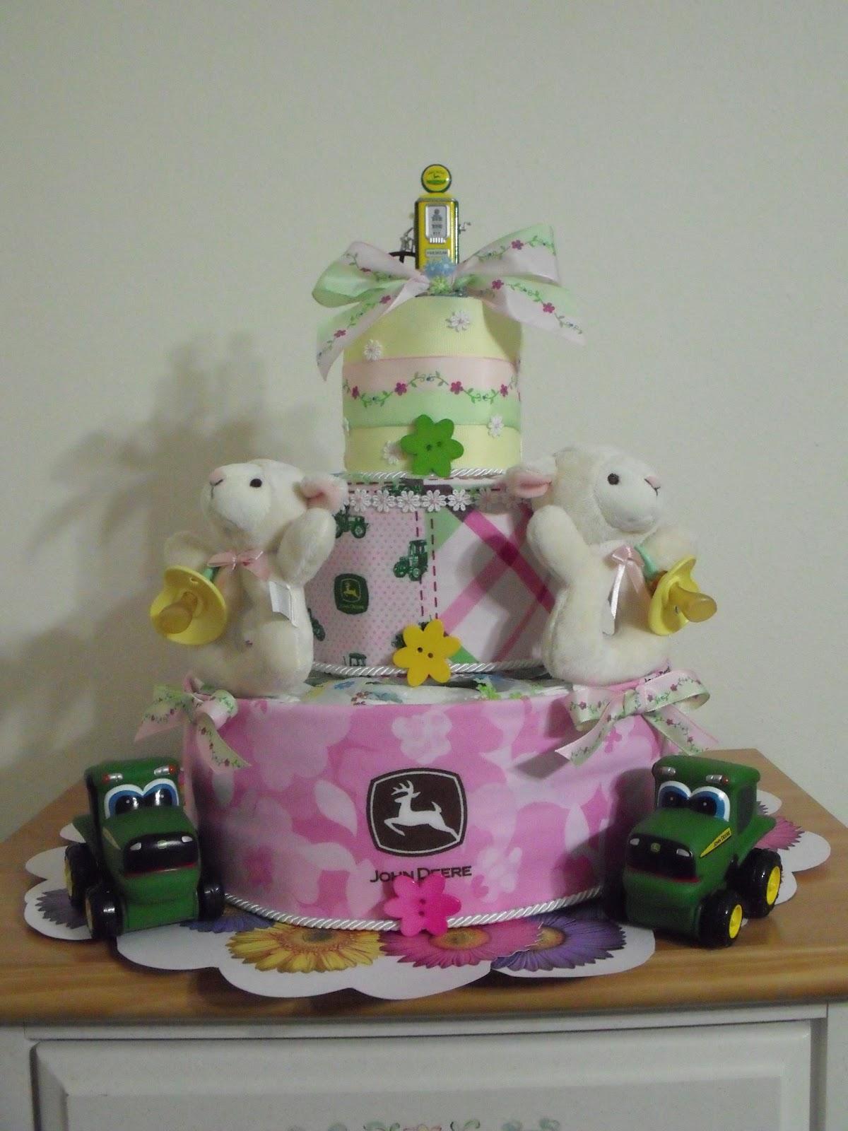 A Few My Favorite Things Baby John Deere Diaper Cake
