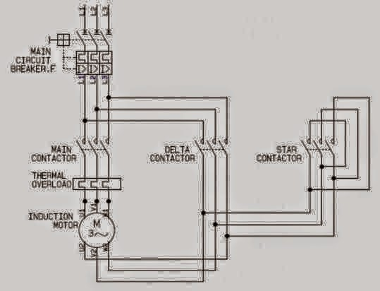 electrical engineering world  star delta motor control power circuit