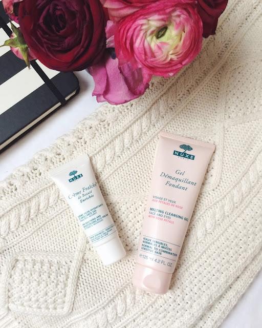 beauty essentials, nuxe cleansing cream, nuxe creme fraiche, nuxe moisturizer, nuxe facial cream, nuxe facial cleanser