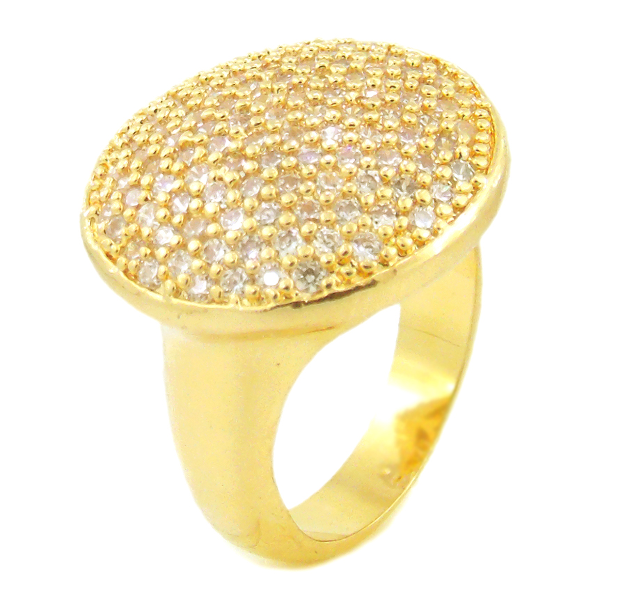anel com zirconia semi joia