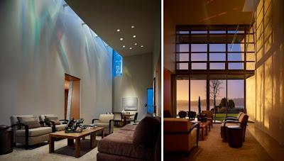 Contemporary Waterfront Home Ideas Modern Exterior Courtyards Terraces Design