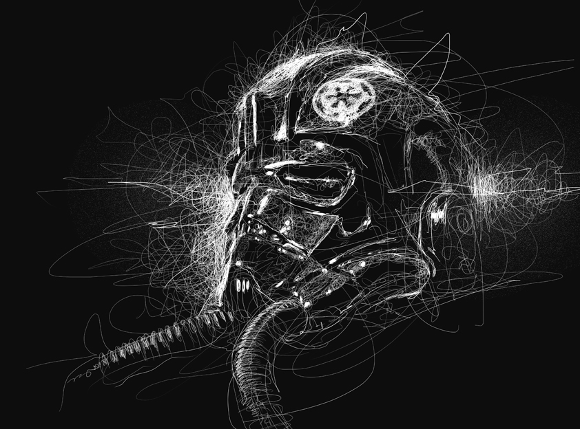 08-Star-Wars-TIE-Fighter-Pilot-Vince-Low-Scribble-Drawing-Portraits-Super-Heroes-and-More-www-designstack-co