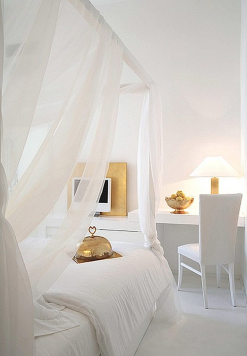 Lamb blonde serene white bedrooms for Spa bedroom designs