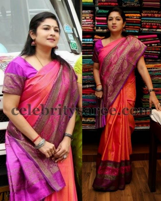 Srinidhi Chidambaram Silk Saree