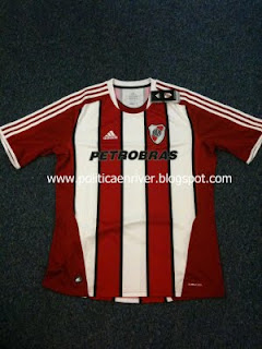 Nueva camiseta River Plate tricolor alternativa 2011-2012 de frente