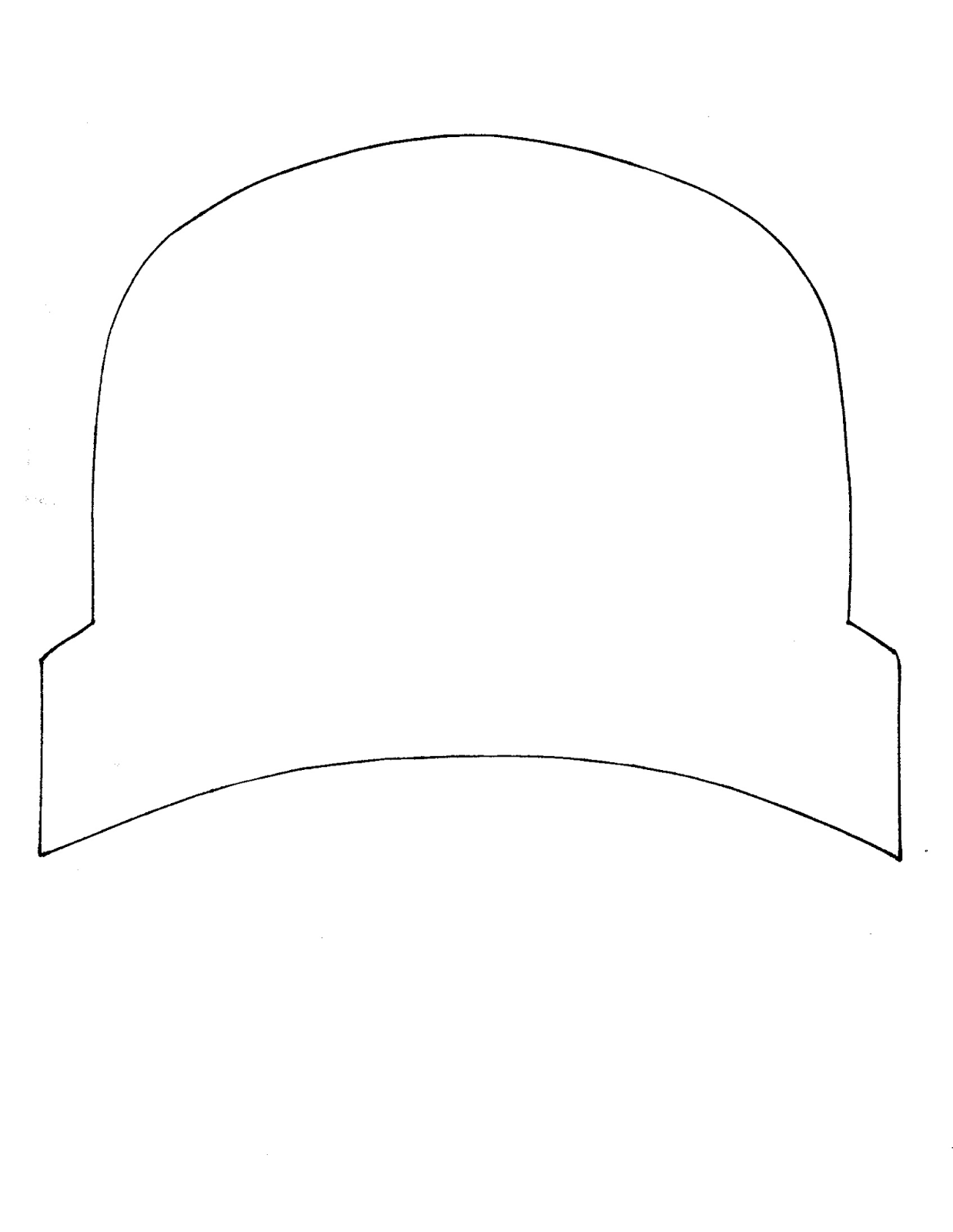 Persnickety image with pilgrim bonnet template printable