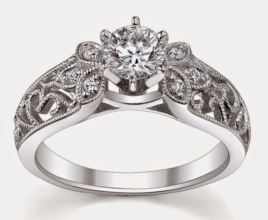 Hand Engraved Womens Wedding Rings with Beautiful Diamond Design pictures hd