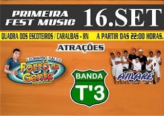* I FEST MUSIC/Caraúbas/16 de Setembro.