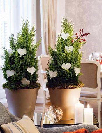 El caj n de sof a ideas para decorar en navidad rboles - Como hacer un arbol de navidad blanco ...