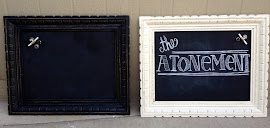 Black & White Magnetic Chalkboards ($50 each)