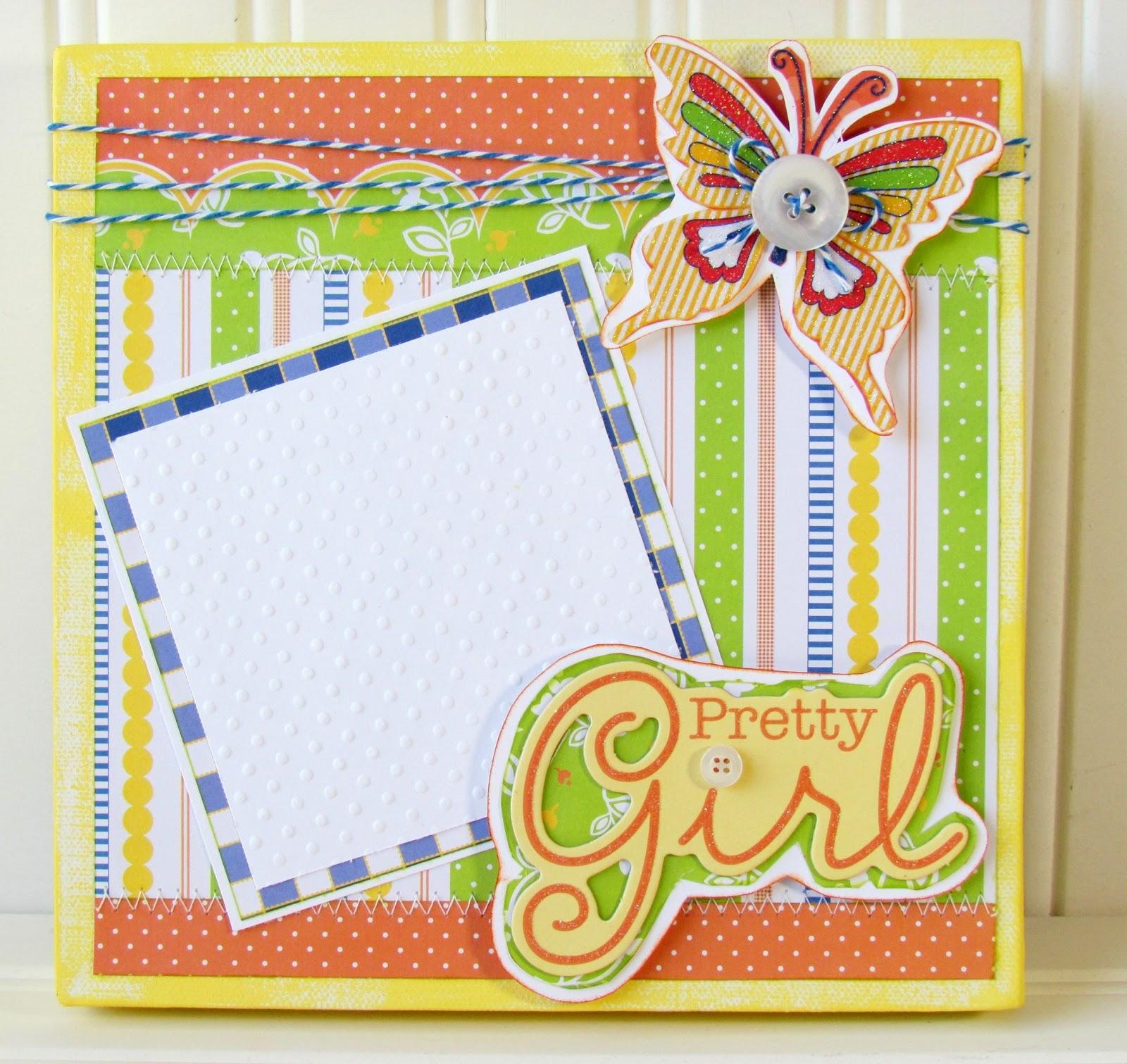 Pretty Girl Canvas Frame Ribbons Amp Glue