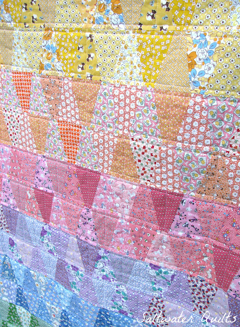 30's Reproduction Rainbow Tumbler Quilt | © Saltwater Quilts 2012