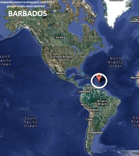 BARBADOS America  MAPAS DE