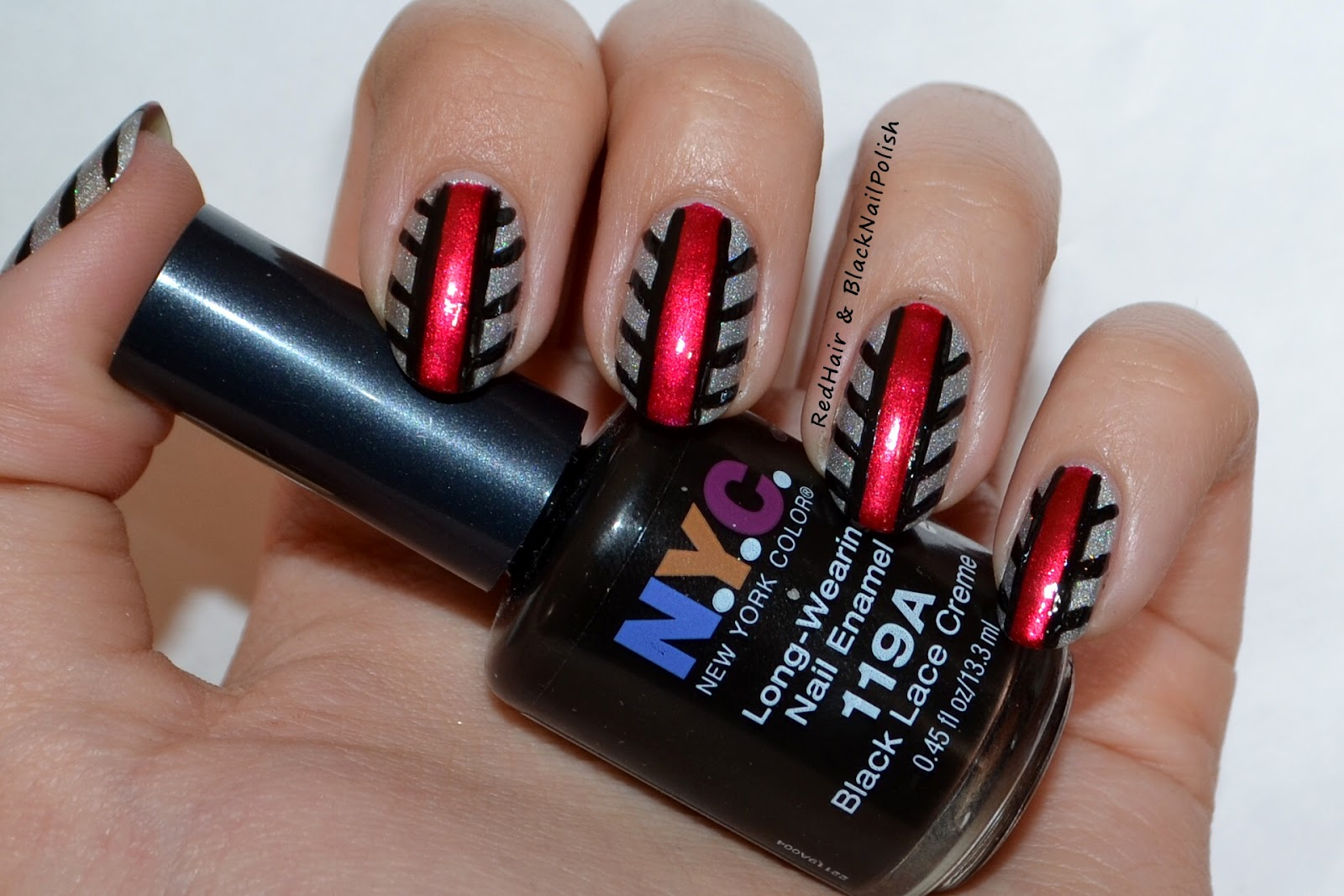 Cool Red and Black Nail Designs