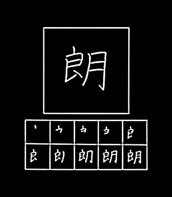 kanji jelas, terang