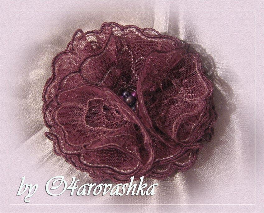 Цветок из кружева своими руками