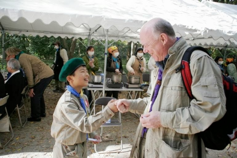 Over a 1000 Scouts welcome B-P Fellows to Japan