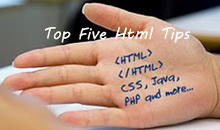 Top Five HTML Tips to Help you Create A Rocking Website