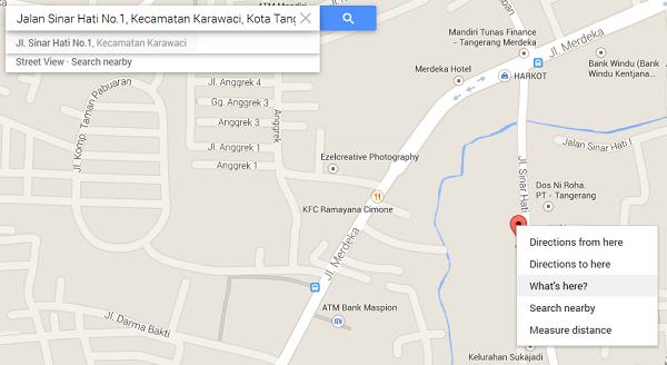 Menandai Koordinat Lokasi Google Map