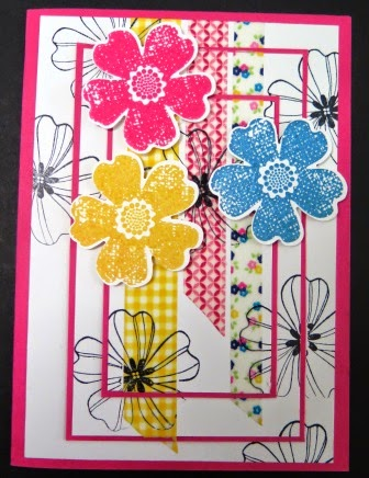 Triple layer stamping technique classes by Zena Kennedy Independent Stampin Up demonstrator