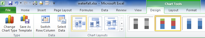 Waterfall chart in Excel pic 6