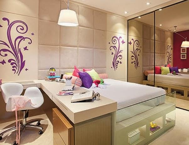 decoracao de interiores quartos femininos:Quarto feminino