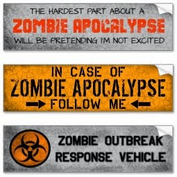 because there's always room for one more zombie bumper sticker