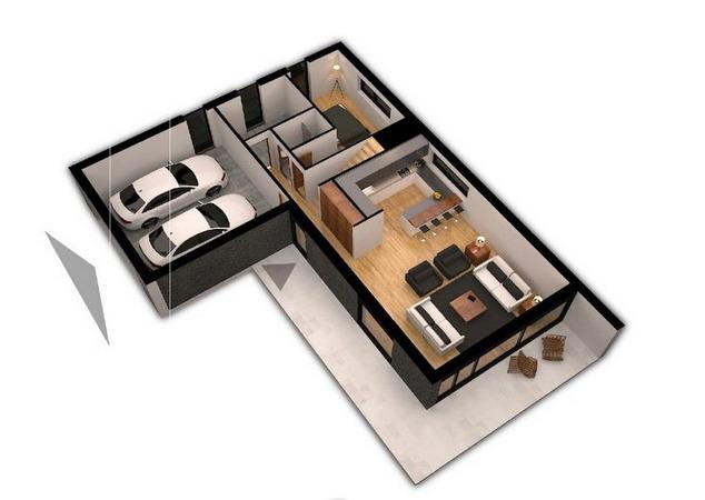 denah rumah minimalis