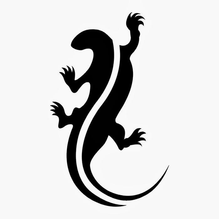 Lizard tattoo stencil