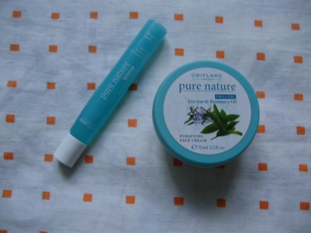 Oriflame Pure Nature Tea Tree & Rosemary Oil krém a lokálny prípravok na nedokonalosti