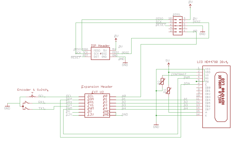 Schematic2 think3dprint3d sanguinololu, lcd and rotary encoder with switch  at n-0.co