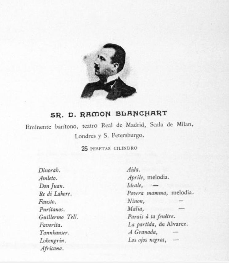 SPANISH BARITONE RAMON BLANCHART (1860-1934) CD