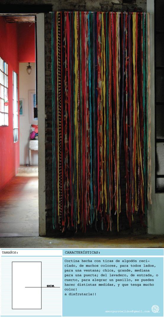 Amor puro tejidos reciclados velador cortina - Cortinas para pasillos ...