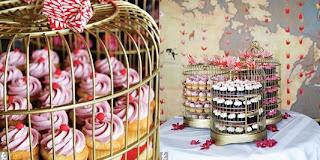 gabbia per uccelli cake stand decorativo con cupcakes