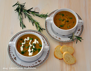 Split Pea Soup with Ham & Rosemary