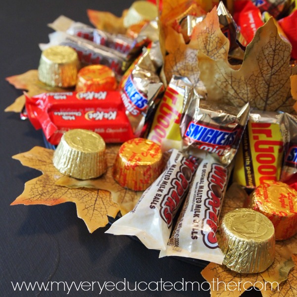 Treat guests to a sweet snack with this candy centerpiece!