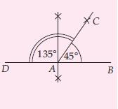 Melukis sudut 135°