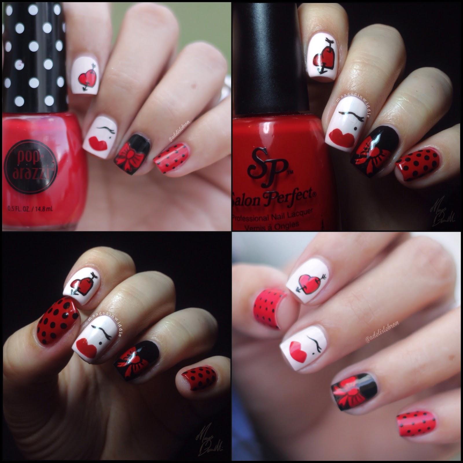 Adelis Lebron Nail Art Pin Up Girl Inspired Nail Art