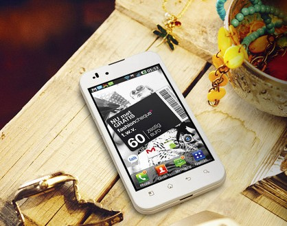 lg optimus white version display