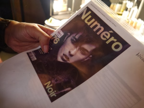 The Numero magazine cover that inspired the punk/androgynous look by La Biostheque at Nicole Bridger fall/winter 2013.