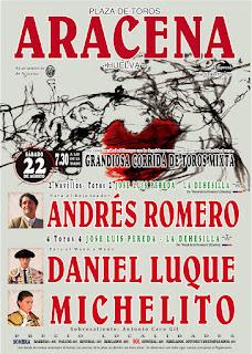 FERIA DE ARACENA 2015 Cartel Taurino