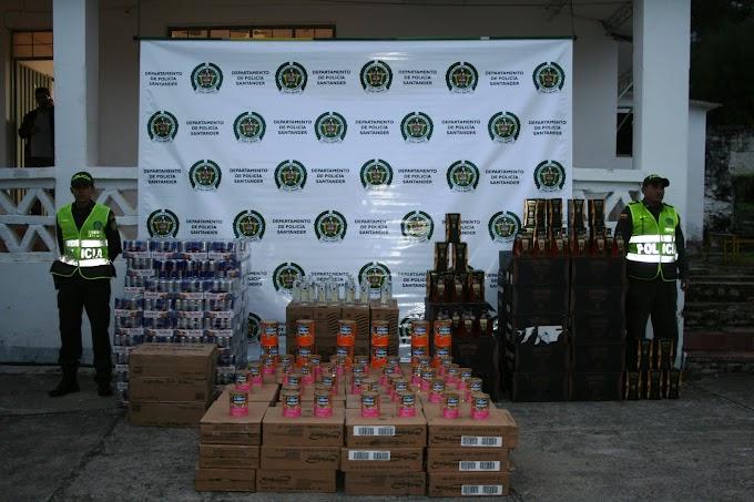 Nuevo golpe al contrabando de licores asesta la Policía: Incautadas mercancías y licores por más de $70 millones.