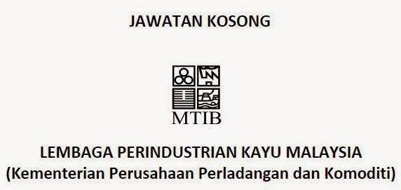 JAWATAN KOSONG LEMBAGA PERINDUSTRIAN KAYU MALAYSIA