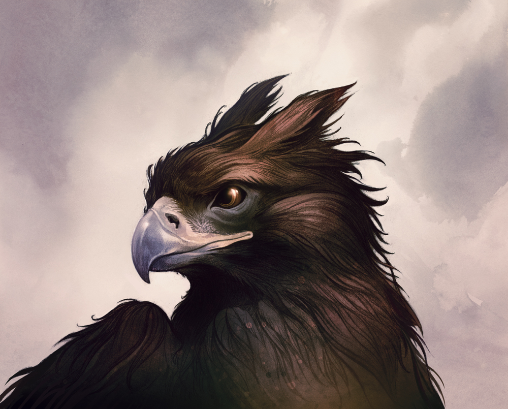 Light night rains new work new prints - A picture of a griffin the creature ...