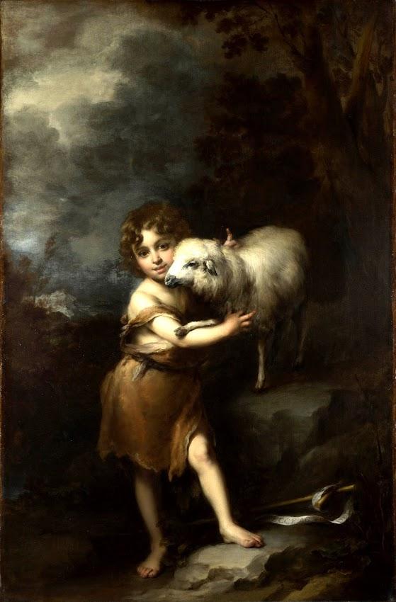 Bartolome Esteban Murillo - The Infant Saint John with the Lamb