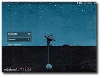 Edubuntu 12.04 login screen and desktop